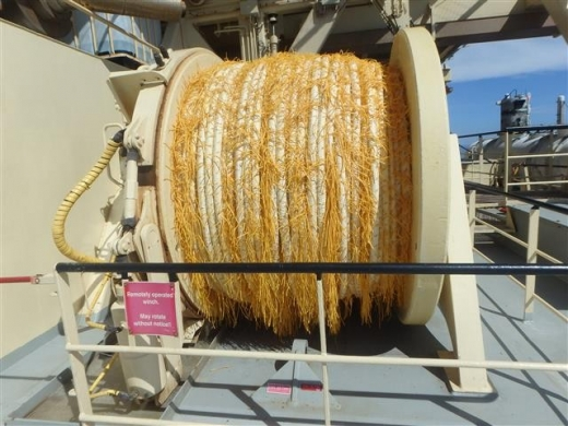 Main Tow Rope on winch