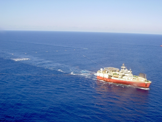 Towing operation in southern waters